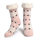 Slipper Socks Fleece-Lined Cozy Thick Winter Knee Highs Stockings for Woman?Girl by MissDill